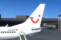 Screenshot of the new tail detail of the TUIfly Boeing 737-800 WL.