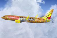 Screenshot of TUIfly Boeing 737-8K5 in flight.