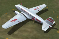 Screenshot of TWA Douglas DC-2 on the ground.