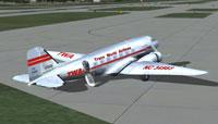 Screenshot of WA Douglas DC-3 on the ground.