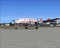 Screenshot of TWA Lockheed L-049A Constellation on the ground.