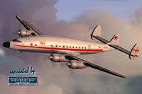 Screenshot of TWA Lockheed L-749 in flight.