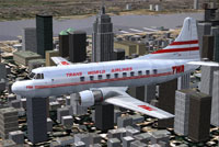 Screenshot of TWA Martin 202A in flight.