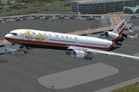 Screenshot of TWA McDonnell Douglas MD-11 taking off.