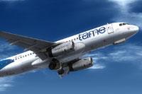 Screenshot of Tame Airbus A320 in flight.