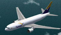 Screenshot of Tampa Cargo Boeing 767-200 ER in flight.