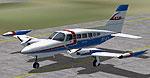 Screenshot of Taxi Aereo Marilia Cessna 402 on runway.