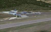 Screenshot of Telluride Regional Airport scenery.