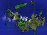 Overview of island terrain.