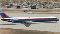 Screenshot of Thunderbird MD-90-30 on the ground.