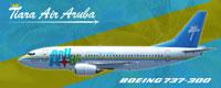 Side view of Tiara Air Aruba Boeing 737-300.