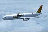 Screenshot of Tiger Airways Australia Boeing 767-300 in flight.