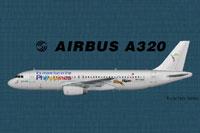 Profile view of Tigerair PH/SEAir Airbus A320.