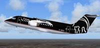 Screenshot of Titan Airways BAe 146-200 in the air.