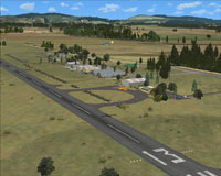 Aerial view of Tokoroa Aerodrome scenery.