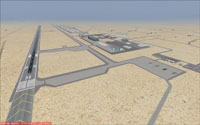 Screenshot of runway 32 at Tonopah Test Range.