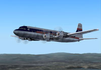Screenshot of Trans American Airlines DC-6B in flight.