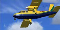Screenshot of Trans Anguilla Britten Norman BN2 in flight.