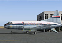 Screenshot of Trans-Australia Airlines Convair 240 on the ground.