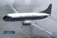 Screenshot of Trans-Australia Airlines Convair CV-240 VBF in flight.