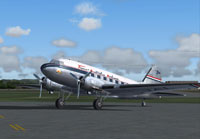 Screenshot of Trans Australia Airlines DC-3 on the ground.