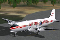 Screenshot of Trans-Canada Air Lines DC-4M2 on the ground.