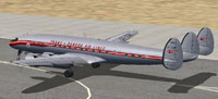 Screenshot of Trans-Canada Air Lines L-1049C on runway.