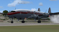 Screenshot of Trans-Canada Air Lines L-1049G on runway.