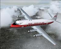 Screenshot of Trans Canada Air Lines Viscount in flight.
