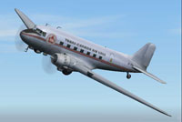 Screenshot of Trans-Canada Airlines Douglas DC-3 in the air.