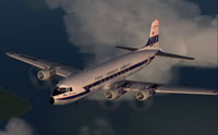 Screenshot of Trans Caribbean Douglas DC-6A in flight.