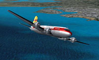 Screenshot of Trans-Orient Pacific Airlines DC-4 in flight.