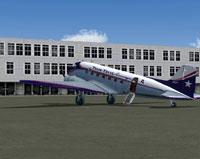 Trans Texas Airways Douglas DC-3 on the ground.