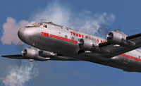 Screenshot of Trans World Airlines Douglas DC-4 in flight.