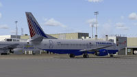 Screenshot of Transaero Boeing 737-400 on the ground.