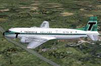 Screenshot of 1966 Transavia Holland Douglas DC-6 in flight.