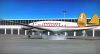 Screenshot of Transocean Airlines Lockheed L749 on the ground.