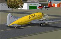Screenshot of Transportes Aereos Squella C-46C on runway.
