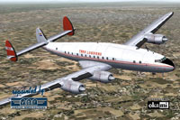 Screenshot of Trek Airways Lockheed L-749 in flight.