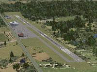 Aerial view of Trenton Robbinsville Airport.