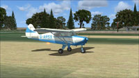 Screenshot of Tri-Pacer G-ARSX on the ground.