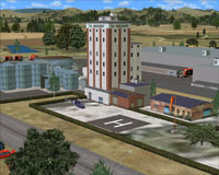 Screenshot of the Tui Brewery building and helipad.