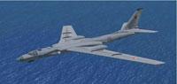 Screenshot of Tupolev Tu-16 Badger in flight.
