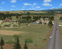 Screenshot of Turangi Airfield scenery.