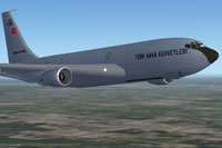 Screenshot of Turkish Air Force Stratotanker in flight.
