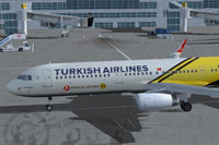 Screenshot of Turkish Airlines Airbus A321-200 on the ground.