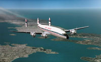 Screenshot of Twentieth Century Airlines Lockheed L1049 in flight.