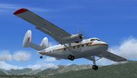 Screenshot of Twin Pioneer 9N-RF6 in flight.