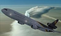 Screenshot of UPS McDonnell Douglas MD-11 in flight.