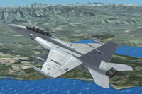 Screenshot of US Air Force EA-18G Growler in flight.